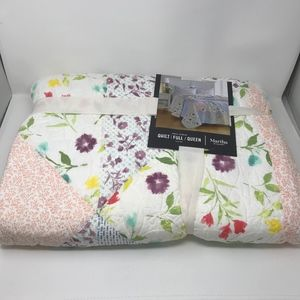 Martha Stewart Cotton Quilt Full Queen Floral